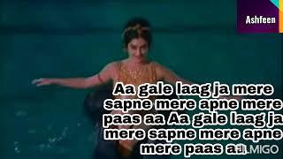 Aa gale lag jaa Song with Lyrics Saira Banu   - YouTube