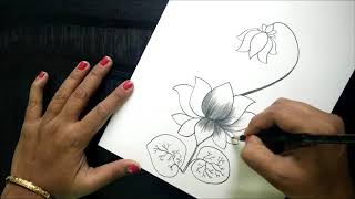 How To Make Greeting Card With Pencil Sketch |version 4