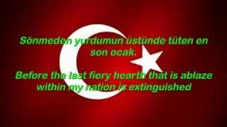 Turkish National Anthem (With English Lyrics on Screen) İstiklal Marşı