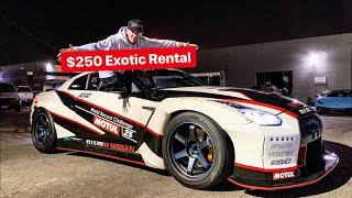 FOUND A $250 SUPERCAR RENTAL!  *WIDEBODY 700 HP GTR*