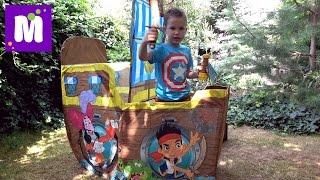 Джейк и Пираты корабль палатка Дисней и сундук с игрушками и конфетный Динозавр