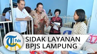Presiden Jokowi Sidak BPJS Layanan BPJS Kesehatan di Lampung
