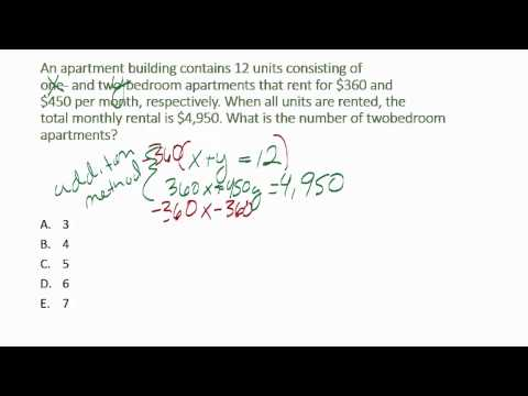 ACCUPLACER College Algebra Practice Questions - YouTube