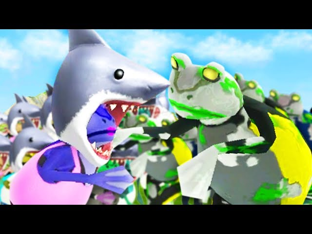 SHARK FROGS vs ZOMBIE FROGS! - Amazing Frog - Part 138 | Pungence