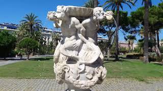 Набережная города Ницца, Море и детская карусель, обалденные пейзажи