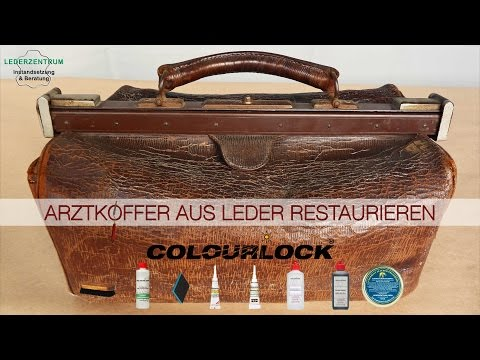 Arztkoffer aus Leder restaurieren - www.lederzentrum.de
