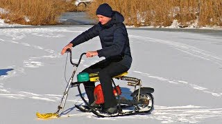 Wild Tests of The Handmade Snowmobile!