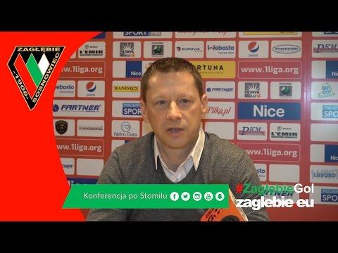 Konferencja prasowa po meczu Zagłębie Sosnowiec - Stomil Olsztyn