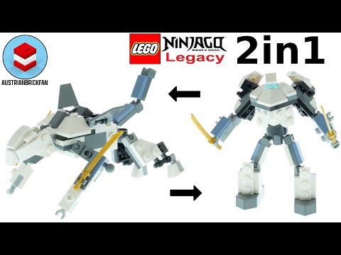 Vidéo LEGO Ninjago 30591 : Titanium Mini Mech 2 in 1 (Polybag)