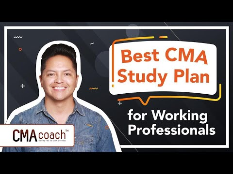 CMA Study Plan for Working Professionals - YouTube