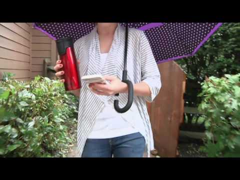 Double Layer Inverted Open & Close No Drip Umbrella on QVC