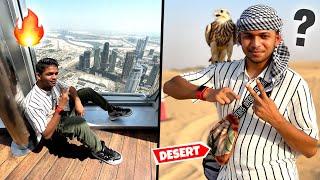 Visiting Burj Khalifa And Desert Safari |Day1InDubai With @Round2hell