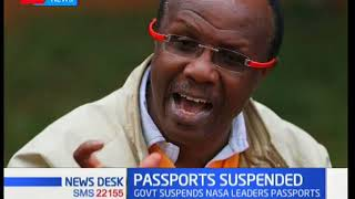 Government suspends NASA leaders' passports