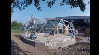 preview picture of video 'Geodesic dome time lapse build, using SOLARDOME® PRO architectural system.'
