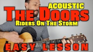 The Doors - Riders On The Storm Easy Acoustic Guitar Lesson