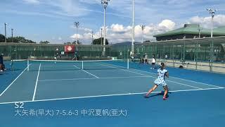 平成30年度全日本大学対抗テニス王座決定試合女子決勝戦ダイジェスト