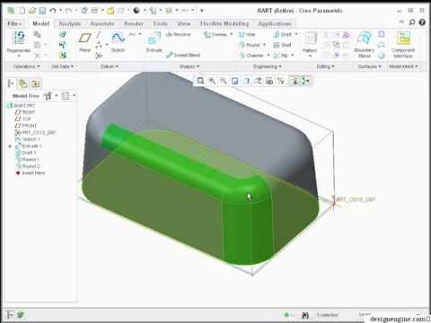 Learn Creo 1.0 - Part 1 | Basic Tutorial to model Plastic Soap Dish ...