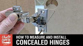 How to Measure & Install Concealed Hinges on Cabinet Doors