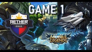 AEROWOLF Vs AETHER MAIN - MSC 2018 - MOBILE LEGENDS - AE VS AEROWOLF