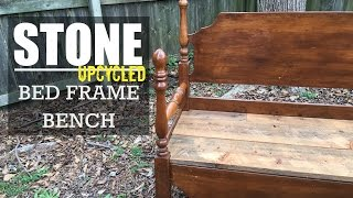 Build A Bench From An Old Bed Frame - Wood Version