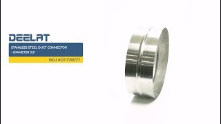 Stainless Steel Duct Connector – Diameter 3.9