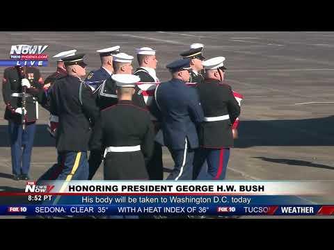 PRESIDENTIAL TRIBUTE: President George H.W. Bush Honored Before Leaving Houston