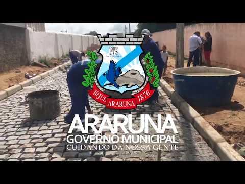 Prefeitura executa obras de pavimentação e realiza sonho de moradores em Araruna