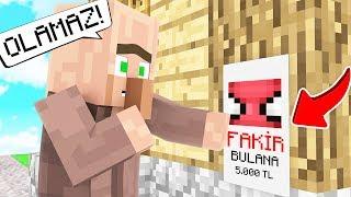FAKİR KÖYDE KAYBOLDU! 😱 - Minecraft