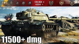 НА АДРЕНАЛИНЕ 11500 dmg M48A1 Patton 🌟🌟🌟 лучший бой World of Tanks как играют статисты wot