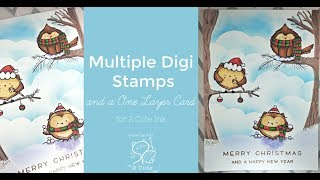Multiple Digi Stamps And A One Layer Card