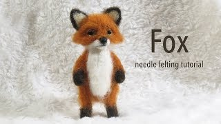 Fox Needle Felting Tutorial