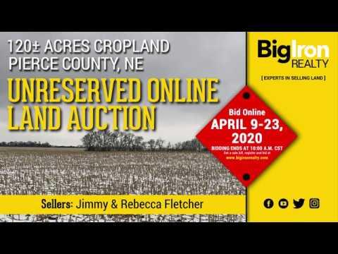Land Auction 120+/- Acres Pierce County, NE