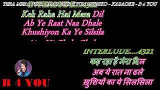 Tera Mera Pyar Amar - Karaoke With Scrolling Lyrics Eng
