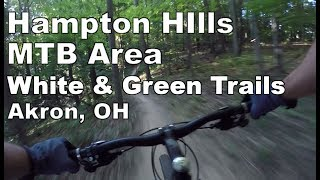 A complete ride-through of the White and Green Trails.