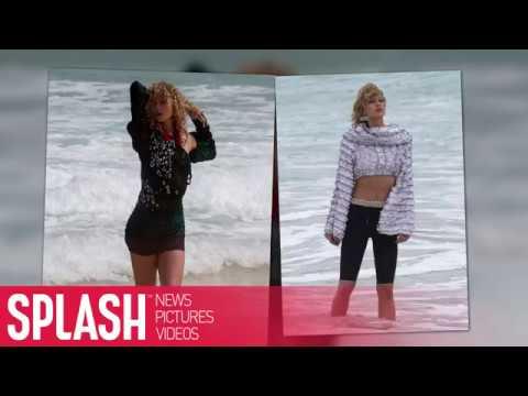 Don't Bring Your Swimsuit! Karlie Kloss Has a Strange Photoshoot on Bondi Beach   Splash News TV