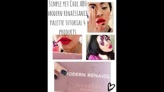 Anastasia Modern Renaissance & Bright Pink Lip Simple Tutorial 4 PRODUCTS