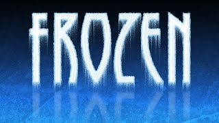 Photoshop Tutorial: How To Create Frozen, Icy, Text & Reflection