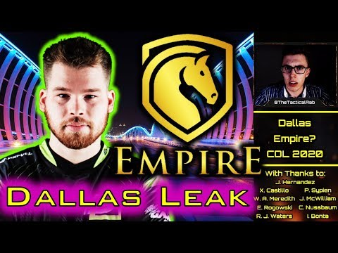 """""""Dallas EMPIRE"""" - Envy Team Name Leaked!?    CDL Rostermania News & Rumors    CoD: MW"""
