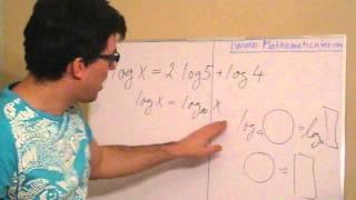 Logaritmická rovnice 1
