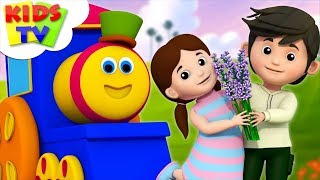 Lavender's Blue Dilly Dilly | Nursery Rhymes | Kids Songs By Bob The Train