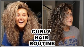 DETAILED WASH DAY ROUTINE   CURLY HAIR   NO FRIZZ  