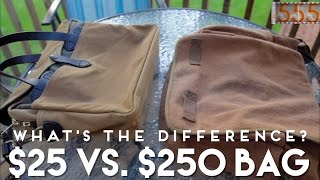 $25 Vs. $250 Mens Bag: Whats The Difference? Filson Briefcase And Rothco Messenger Bag Comparison