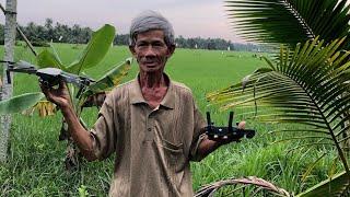 FPV drone - Flying over the Vietnamese rice fields - Khánh Hòa