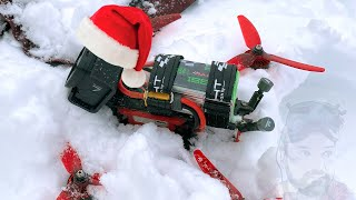 First FPV freestyle drone flight in snowy conditions! | Christmas Day 2020 Flight Session