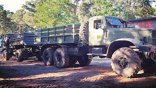 КрАЗ-214 против vs. IFA L60 Tauziehen / KrAZ 214 zieht Opel Astra durch Gelände