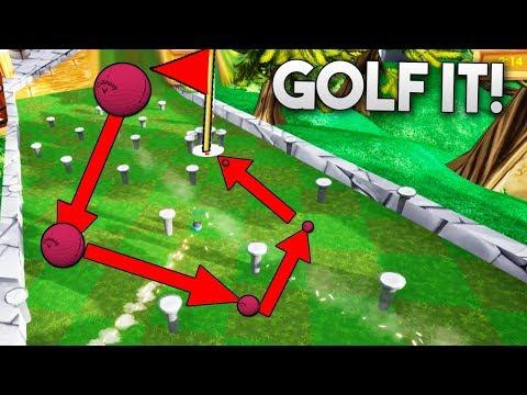 ESQUIVA LOS CLAVOS O PIERDE! QUIEN GANARA? Golf It!
