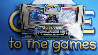 Pokemon Sonne und Mond - Trainer Kit mit Alola Sandamer & Vulnona Opening Unboxing