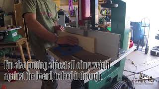 043 resawing hickory on a Grizzly G0513 bandsaw. version 2 Youtube says not advertiser friendly.