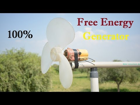 How to make a Windmill Generator at Home - Free Energy Generator Windmill Turbine at Easy Way
