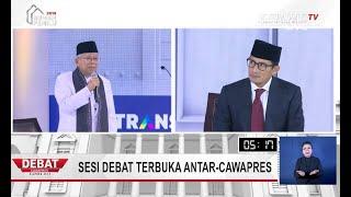 DEBAT PILPRES 2019 - Cawapres Ma'ruf Amin: Jumlah Tenaga Kerja Asing di Indonesia Paling Rendah